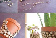 déco pour pot de fleurs