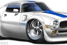 dessins voitures