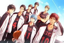 The Basketball which Kuroko plays : Kuroko no Basuke / ~Like a shining light  that cuts through the hazy future, I chase after unlimited possibilities Gotta open my eyes!  Wake up, light a fire in your tired eyes Get up, now's surely not the time to let it smoulder There's no need for prepared ideals Just an unwavering spirit, And an unfinished map is enough Hold on to tomorrow with these hands~  Punky Funky Love wooooo❤❤