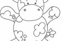 riscos de desenhos infantis