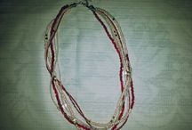 Made by me / On this board, you can see the various bracelets and necklaces which made by myself