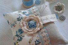 Crochet pin pillow