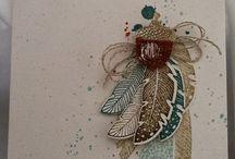 Cards - SU feathers