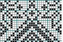 Patterns / Жаккард Вышивка Ткачество Фенькоплетение