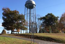 Water Towers / Established cities and communities have water towers. Water tower landmarks tell me where I am long before I see the city's welcome sign.