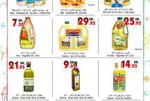 De compras en el mercado y en la tienda de comida