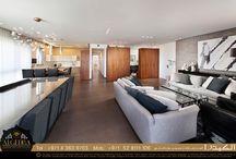 Penthouse Apartment Interior Design / 150 square meter (or 1614 square feet) penthouse apartment #interiordesign #interiors #interior_decoration #penthouse #apartment #design