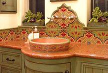 lavabos rústicos mexicanos
