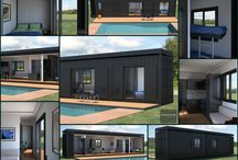 Small spaces free living (40' hc container) / E-container, Energetic self sufficiency house  project