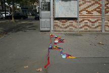 Örgü İpliği ile Sokak Sanatı / Street Art Mesh