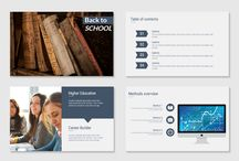 Education Presentation Templates / Choose from a nice variety of educational templates fit for both, students and teachers.