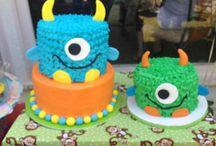 1 old birthday party boy cake