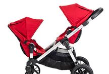 Double Strollers / Double strollers for newborn twins and toddler.