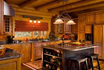 Log Home Kitchens / Beautiful kitchens designed by satisfied log home owners.