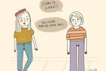 """Pepita Sandwich / Amo todo lo que tenga que ver con """"Expresar"""" y adoro los artistas que con sus dibujos logran trasmitir mensajes y mas cuando son tan cotidianos estas viñetas y diseños pertenecen a Josefina Guarracino."""