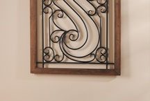 Metal scroll art