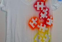 paint shirt, bags
