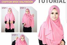 hijab tutorial-sew
