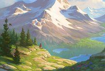 Illustraded landscapes