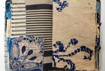 blue inspired journals and textiles