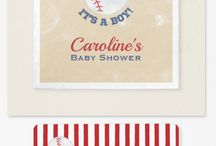Baseball Baby Shower / Classic, vintage-styled baseball baby shower theme. DIY, planning, decor, fun food and more!