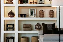 Collector shelves / Ideas for huge wall of shelving to display hunter gatherer findings in a contemporary way