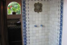 Bathrooms and Showers / Mexican tile is functional, beautiful, and practical, it provides a long lasting wall or surface that is easy to care and maintain. You can install Mexican tiles in virtually any area you want to enjoy their warm and beauty.