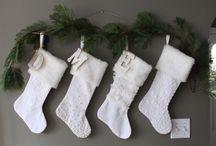 Christmas Stockings ... ho ho ho! / I love Christmas stockings - lots of inspiration here.