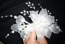 bloemen gemaakt van kousen
