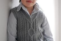 Knitted vests for boys