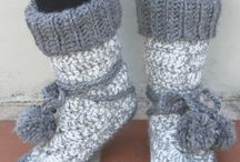 Crochet big boots/shoes