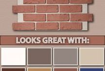 Outdoor paint ideas with red brick