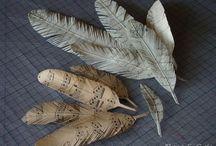 plumes papier