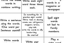 Sight Words / Useful and fun resources to reinforce the learning of sight words!
