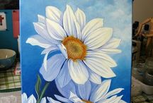 flower painting oil