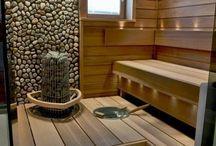 Sauna in garden