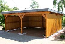 casa e garagem madeira