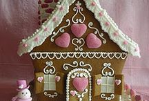 Gingerbread house / Food project in creating a gingerbread house :3