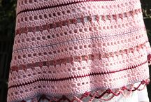 poncho crochet knitted sewn