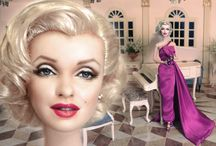 "Marilyn Monroe by Noel Cruz / A Mattel ""How To Marry a Millionaire"" Barbie of Marilyn Monroe as repainted and restyled by artist Noel Cruz of ncruz.com for myfarrah.com as well as photos of Marilyn and other Marilyn related images."