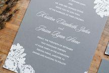 White and grey wedding