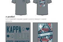 Kappa Delta / Kappa Delta custom shirt designs #kappadelta #kaydee #kd  For more information on screen printing or to get a proof for your next shirt order, visit www.jcgapparel.com