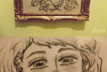 cuadros ♥ hechos por mi / ilustraciones,cuadros,chicas,tatuajes ♥ zombies