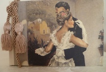 Wedding Ideas / Vintage inspired photo albums, picture frames, bridal shower and bridal party gifts