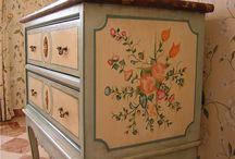 Muebles pintados / Muebles de pino o reciclados, pintados