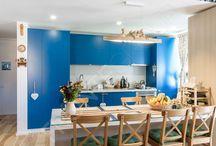 Quilt Kitchen / County chic kitchen. Blue Kitchen. Beautiful Kitchen. Kitchen Inspiration.