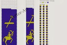 schematy / wzory sznurów szydełkowo-koralikowych