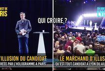 Illusion de candidat ou Marchand d'illusion : Mélanchon et son hologramme