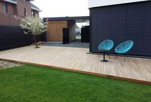 Buitenparket / Ideeën voor je terras vloer. #parket #terras #overkapping #hout #buiten