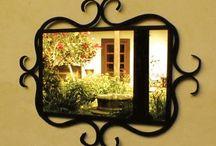 Mirrors iron frame